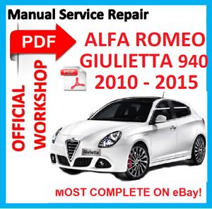 MANUALE OFFICINA UFFICIALE # servizio di riparazione per Alfa Romeo Giulietta A-191 940