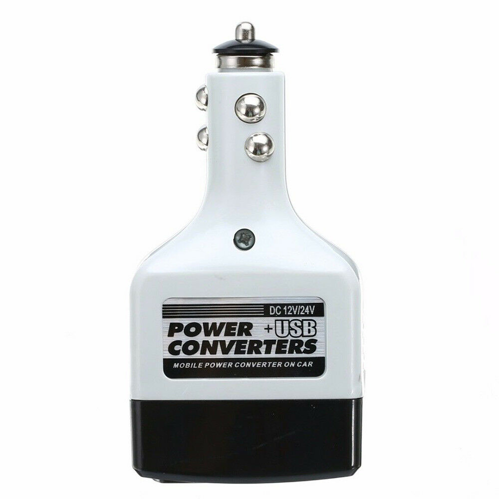 12V DC to AC 220V Car Auto Power Inverter Converter Adapter Adaptor USB Plug LU
