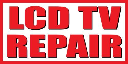2/'x4/' LCD TV Repair Vinyl Banner Sign
