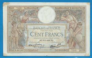 billet de banque 100 francs 1938