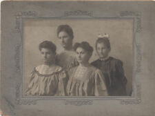 BOUDOIR CARD, IMAGE OF YOUNG WOMEN IN DRESSES. DUBUQUE, IA.