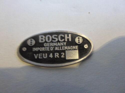 Typenschild Schild Bosch Verteiler VEU 4 R 2 VW käfer Porsche 356 s20