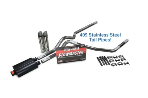 """Ford F-150 04-14 2.5/"""" Stainless Dual Exhaust Kit Flowmaster Super 40 Sl Tips"""