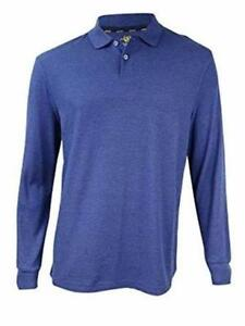f05561a6 Details about Club Room LS Performance Rugby Polo Shirt Lazulite Mens Size  Small New