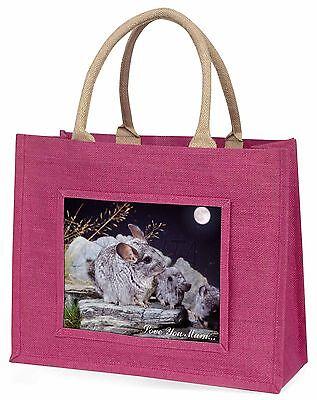 Mondlicht Chinchillas 'Liebe, die Sie Mama' Große Rosa Einkaufstasche Christus,