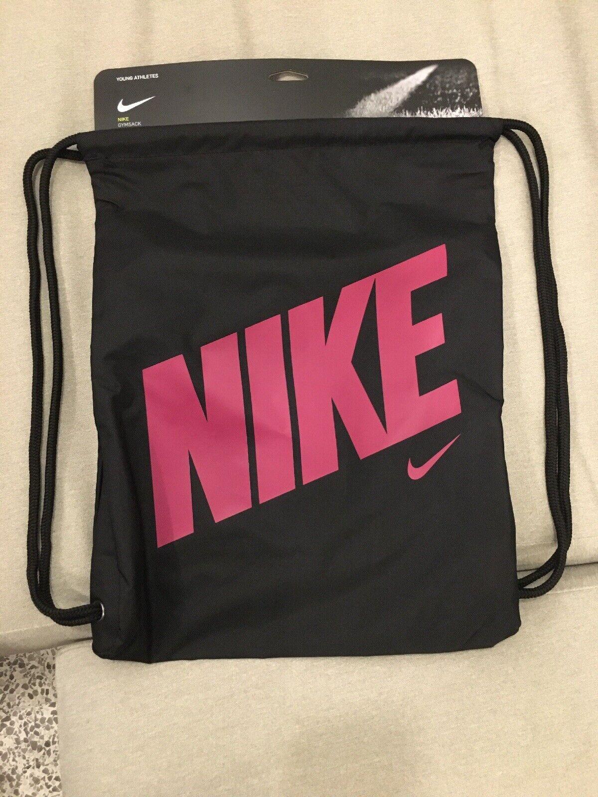odio Contratista Hormiga  Nike Heritage Gymsack Lightweight Drawstring Bag Black/rush Pink Ba5262 016  for sale online | eBay