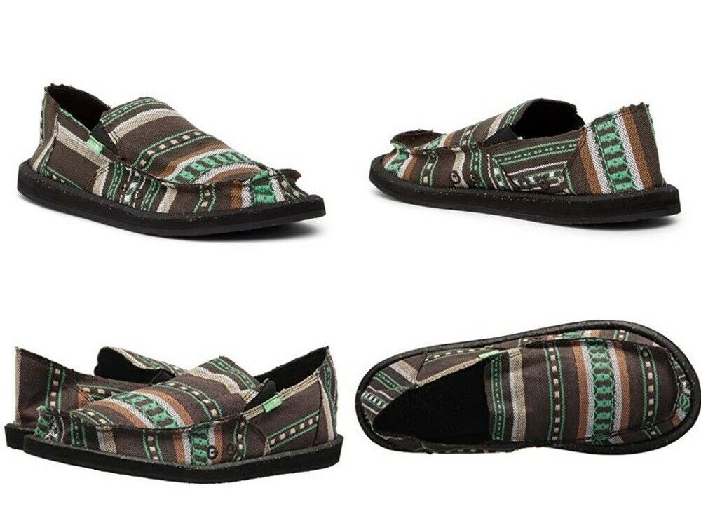 SANUK VAGABOND FUNK GREEN BLANKET MULTI SIDEWALK SURFER SHOES MEN'S PICK SIZE
