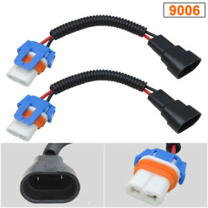 2pcs 9006 hb4 ceramic wire wiring harness adapter socket forimage is loading 2pcs 9006 hb4 ceramic wire wiring harness adapter