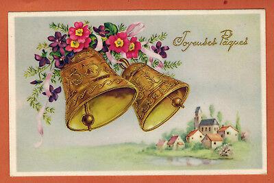 Carte Postale glacée - Joyeuses Paques - Cloches - fleurs - Photochrom - (A.73)   eBay