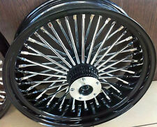 "FAT SPOKE 16"" FRONT WHEEL BLACK 16 X 3.5 HARLEY FLHR ROAD KING FLHRS 2000-2007"