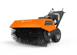 New Ariens 36 36 Inch Parking Lot Walk Behind Power Sweeper Broom Sidewalk Snow Blower also works on Flat Roofs Gas Canada Preview
