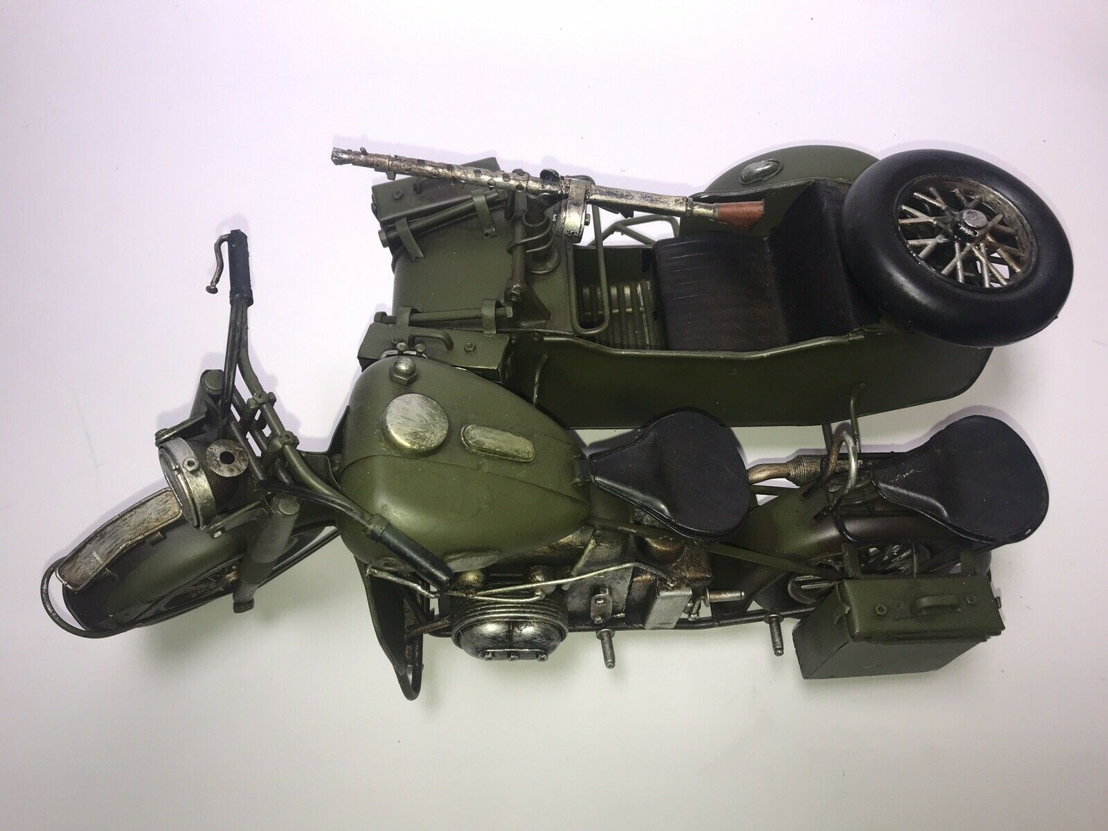 Maßstab 1 6 Blech BMW Motorrad Beiwagen MG MG Militär German Military Motorcycle