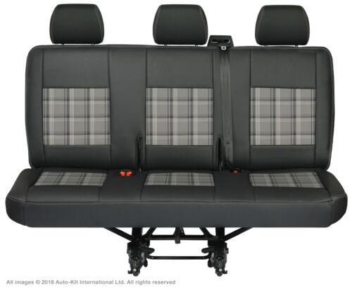 VW Transporter T6.1,T6,T5.1,T5 Rear Triple INKA Tailored Seat Cover Leatherette