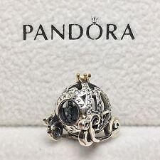Charm Plata de Ley CARROZA CENICIENTA DISNEY Genuine Pandora Box ALE S925