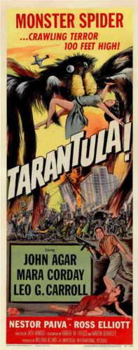 Carroll John Agar Mara Corday Nestor TARANTULA Movie POSTER 14x36 Insert Leo G
