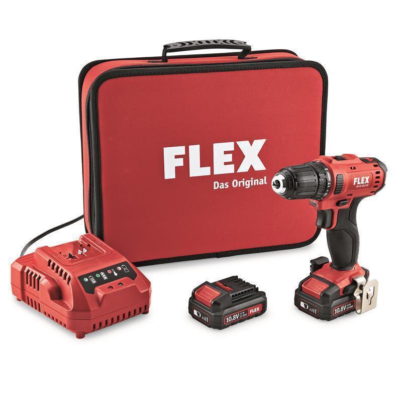 Flex Akku-Bohrschrauber DD 2G 10.8-LD inkl. 2x2,5Ah Akkus + Ladegerät, 450.561