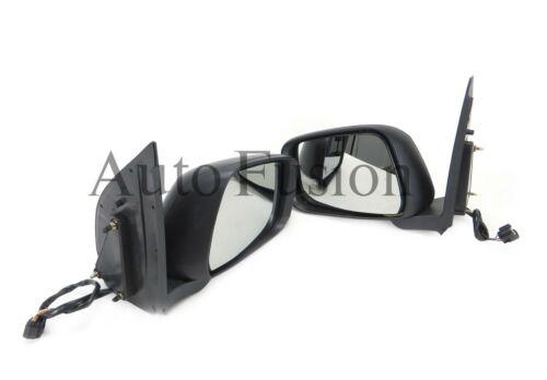 Door Mirror Pair Black Led Blinker Electric For Nissan Pathfinder R51 2005-2013