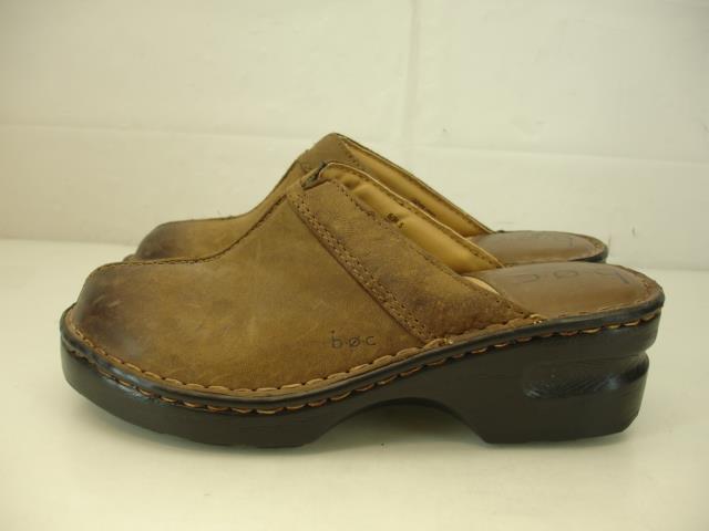 s 6 m b.o.c. né b.o.c. m jayden sabots marron cuir glisse sur les chaussures confort mule e11bc9