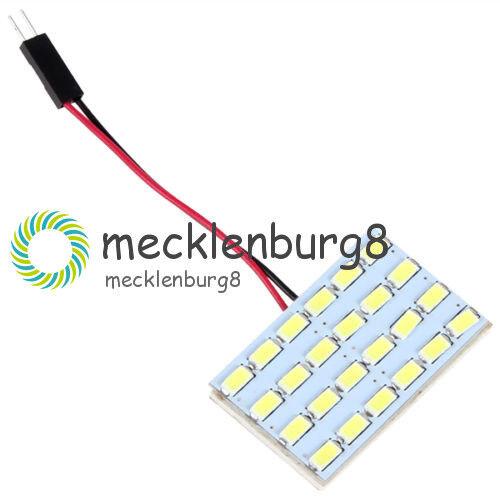 12V 24LED 5730 SMD LED Light Panel Board Car Interior Dome Reading Lamp Light 3W