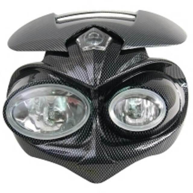 Enmascarar Faro Moto Carbono Fly Eyes (Homologado Ce )
