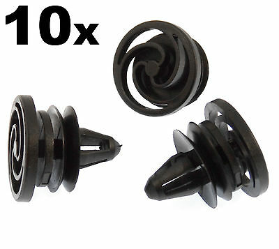 VVO Fasteners Plastic Rear Bumper /& Trim Fastener Clips Black Pack of 10