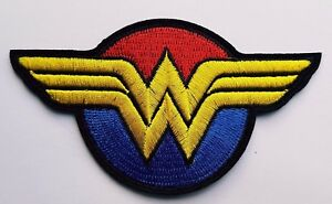 Wonder Woman Logo Red Blue And Yellow Wonder Woman Movie Logo Iron On Patch Ebay