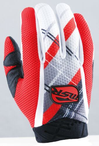 MSR Racing Max Air Vented MX ATV Offroad Riding Gloves Red Black White Free Ship