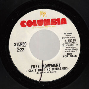 HEAR-Soul-Funk-Promo-45-FREE-MOVEMENT-I-Can-039-t-Move-No-Mountains-on-Columbia-Pr