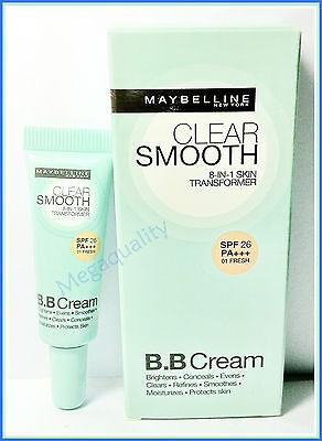 MAYBELLINE CLEAR SMOOTH 8-IN-1 TRANSFORMER BB CREAM SPF26 NO.01 FRESH 6 ml.
