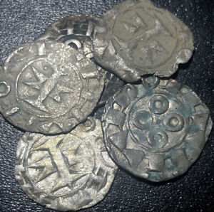 1080-1120-France-Languedoc-County-of-Melgueil-Silver-Denier-Rare-Medieval-Coin
