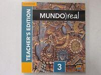 Mundo Real Spanish 3 Teacher's Edition Cambridge 2014 1107654777