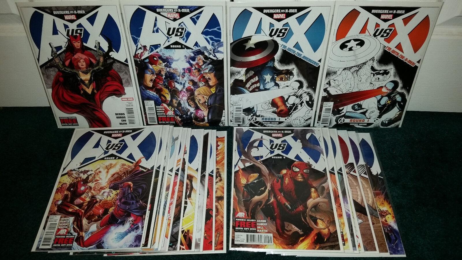 Avengers Vs. X-Men AVX Round 0-12 Regular + Variant Cover Round 10 Ramos +