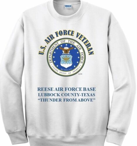 REESE AIR FORCE BASE* LUBBOCK COUNTY-TEXAS* THUNDER*  EMBLEM SWEATSHIRT
