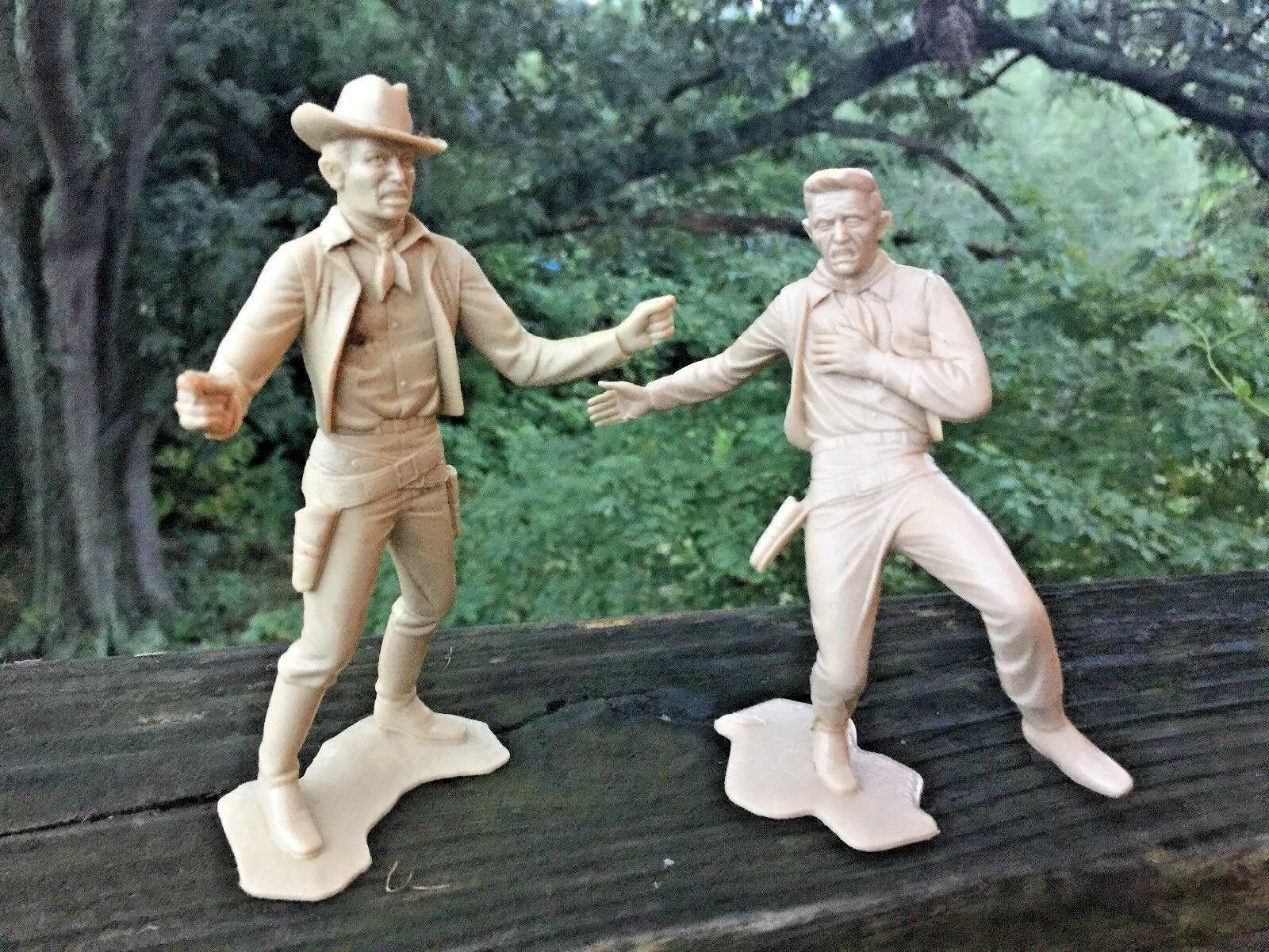 Antique Vintage COWBOY WESTERN Gun Fight OK CORRAL Cowboys MARX Figures SET  ️j8