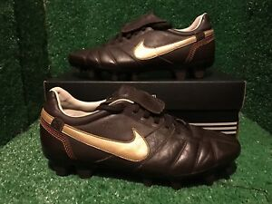 Détails sur Nike Tiempo R10 Ronaldinho marron total 90 Soccer Shoes 41 8 7 afficher le titre d'origine