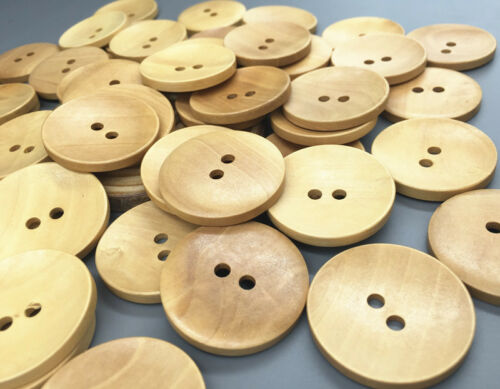 30pcs Wooden buttons 2-holes sewing scrapbooking crafts Coat accessories 35mm