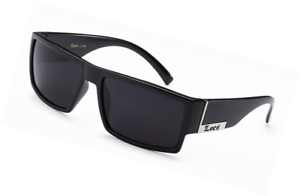 5bfcc58a3d9 Image is loading Locs-Mens-Flat-Top-Gangster-Sunglasses-Black-Silver-