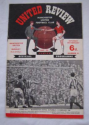 Billiger Preis Orig.prg England Division 1 1965/66 Manchchester United - Fc Burnley !!