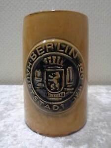 Berlin-Capital-de-la-Rda-Recuerdo-Ceramica-Jarra-0-5L-Vintage-alrededor