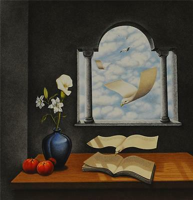 Rafal Olbinski Calendar of Yesterday's Wishes Fine Art Lithograph Hand Pulled S2