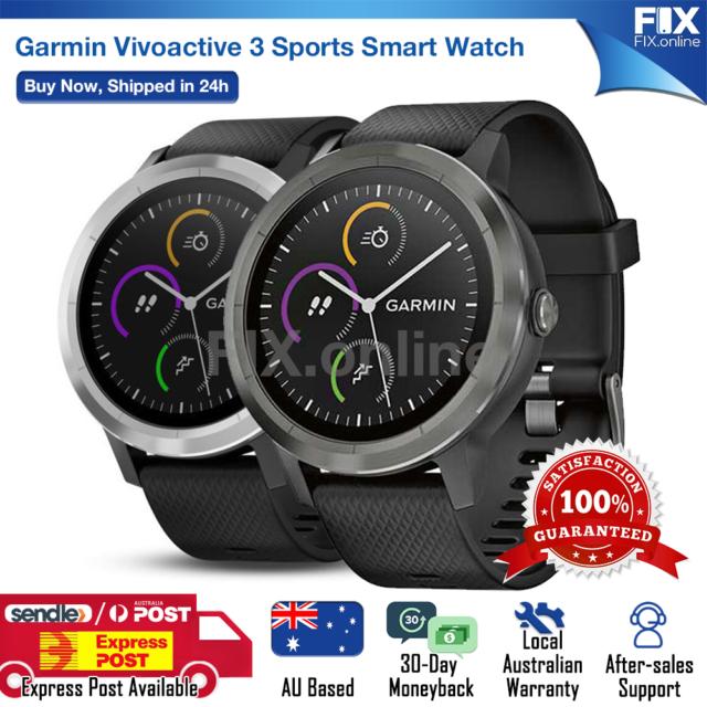 Garmin Vivoactive 3 Smart Watch GPS and Built-in Sports App Running Fitness AU