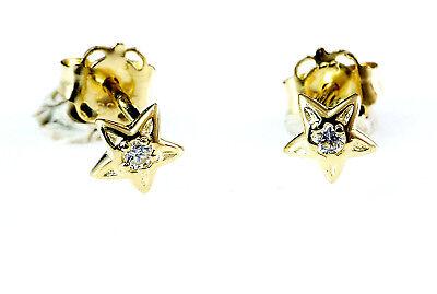 333 Gold kleine Herz Ohrstecker 1 Paar 5,5 mm mit 26 gefassten Zirkonia Steinen