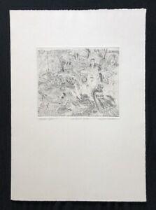 Sigfried Kaden, acqua-Sport, stuttagart 1974, acquaforte, 1980, firmato a mano
