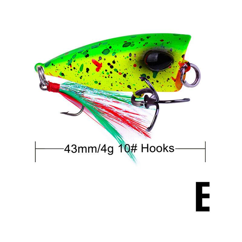 4,3 cm 4 g Mini Poppers locken Forelle  ZD