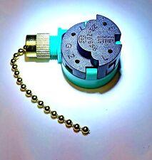 ZE-268S6 original Zing Ear Pull Chain Ceiling Fan 3-Speed Switch brass finish
