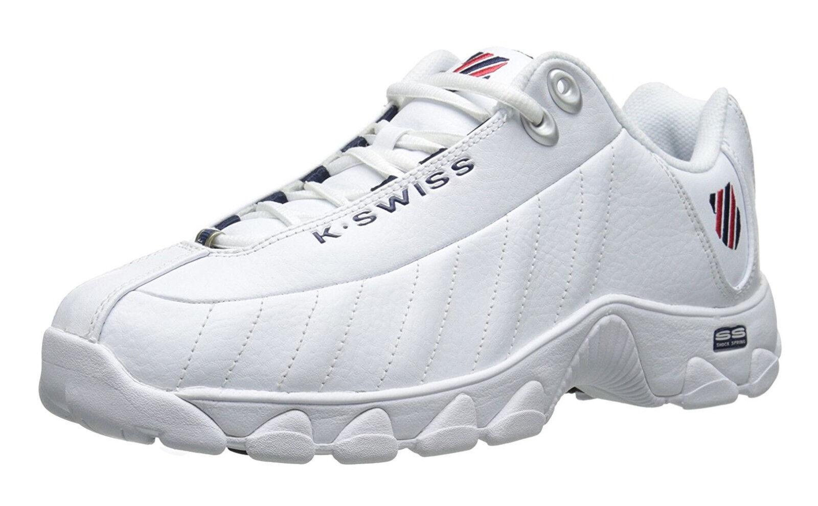 K-Swiss ST329 CMF blancoo, Azul Marino, Rojo Zapatos tenis de entrenamiento para hombre 03426-130-M
