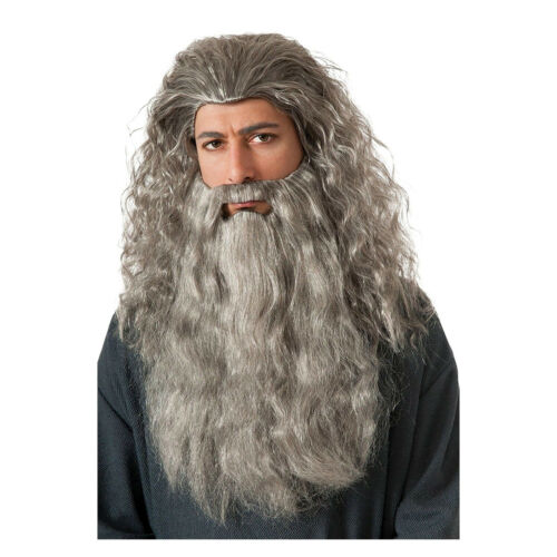 Gandalf Wig Mustache and Beard Set The Hobbit Adult Costume Accessory