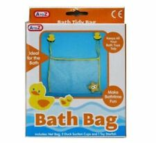 Baby Bath Toy Storage Net Bag with Duck Suckers and Starfish Kids Bathtime Fun
