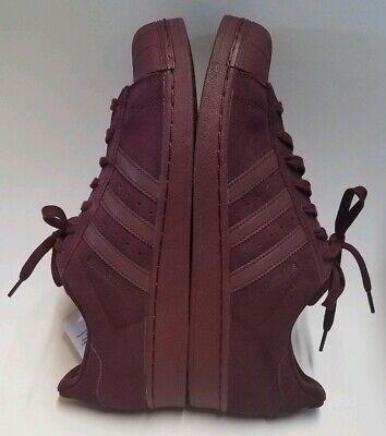 Adidas Originals Superstar Maroon Suede Reflective Mens Shoes Sneakers Size 11.5 | eBay