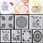 7PCS-Craft-Embossing-Template-Wall-Painting-Layering-Stencils-Scrapbooking-HS88 thumbnail 2